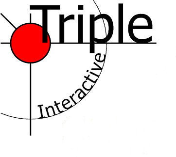 Triple interactive logo