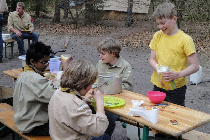 Eten op kamp