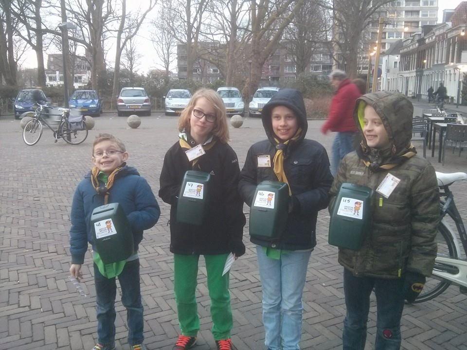 collecteren voor Jantje Beton