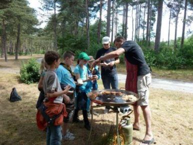 wat lekkers eten tijdens route lopen op kamp